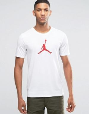 Jordan Белая футболка Nike Jumpan 801051-100. Цвет: белый