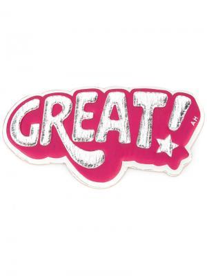 Стикер Great Anya Hindmarch. Цвет: розовый и фиолетовый