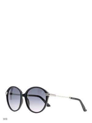 Солнцезащитные очки SK 0044 01B Swarovski. Цвет: черный, серебристый