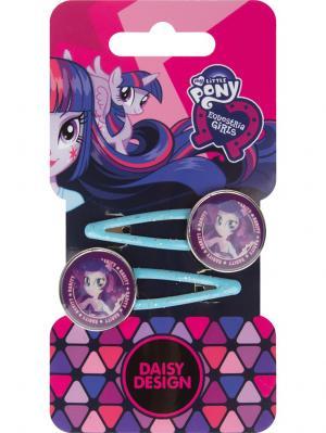 Набор заколок для волос Подружки Daisy Design. Цвет: фиолетовый