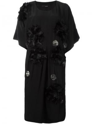 Декорированное платье Dominate Avelon. Цвет: чёрный