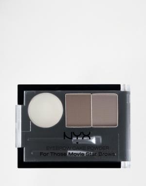 NYX Professional Makeup Тени для бровей Make-Up. Цвет: коричневый