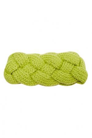Плетеная повязка на голову Knittedkiss. Цвет: зеленый