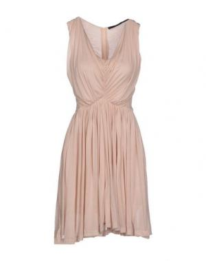 Короткое платье SLY010. Цвет: бежевый