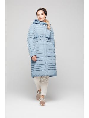 Пальто GOLD&ZISS. Цвет: серо-голубой