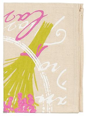 Полотенце льняное Прованс GrandStyle. Цвет: фиолетовый, серый