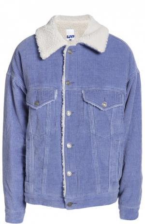 Джинсовая куртка Steve J & Yoni P. Цвет: синий