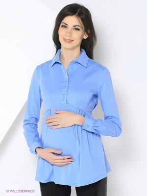 Блузка 40 недель. Цвет: голубой
