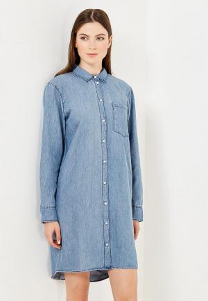Платье джинсовое Cheap Monday. Цвет: голубой