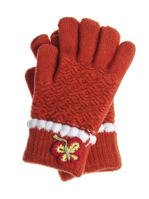 Перчатки детские Migura. Цвет: оранжевый, белый
