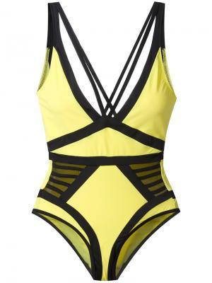 Слитный купальник Elle Moeva. Цвет: жёлтый и оранжевый