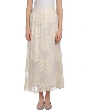 Длинная юбка NINEMINUTES. Цвет: белый