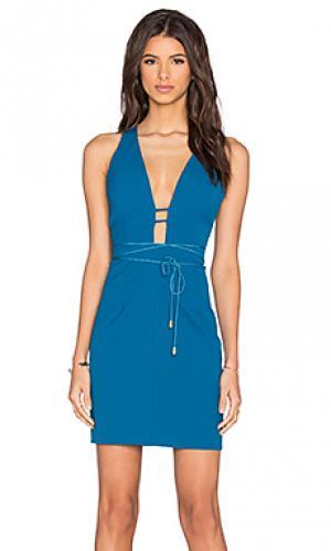 Платье с открытой спиной serendipity sensation Lumier. Цвет: синий