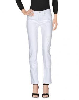 Джинсовые брюки FOLLOW US. Цвет: белый
