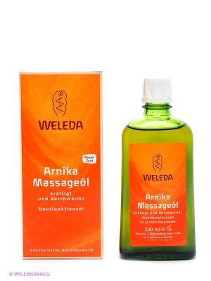 Массажное масло с арникой, 200 мл Weleda. Цвет: зеленый