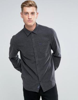 Jack Wills Темно-серая фактурная фланелевая рубашка классического кроя. Цвет: серый