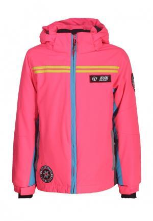 Куртка утепленная Fun Rocket. Цвет: розовый