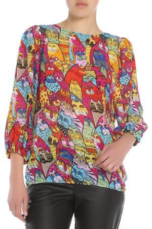 Блузка Ketroy. Цвет: фуксия