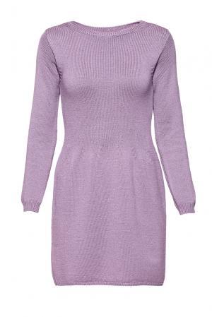 Платье из шерсти 191026 Andre Maurice. Цвет: фиолетовый