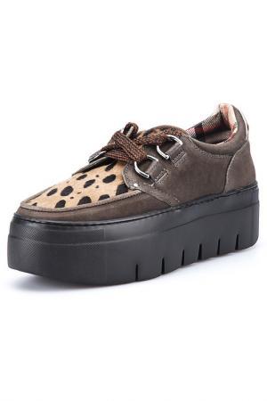 Ботинки SOYA FISH. Цвет: коричневый
