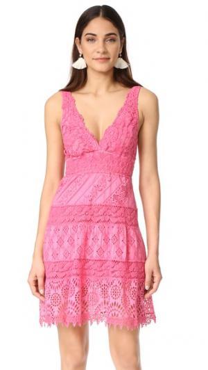 Платье с V-образным вырезом Temptation Positano. Цвет: fragola