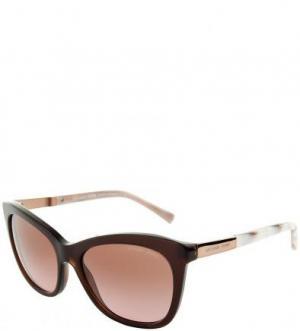 Солнцезащитные очки с коричневыми линзами Michael Kors. Цвет: коричневый