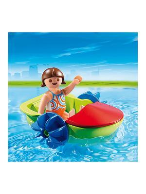 Аквапарк: Девочка в смешной лодке Playmobil. Цвет: красный, салатовый, синий