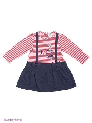 Платье Sun City. Цвет: розовый, белый, серо-голубой