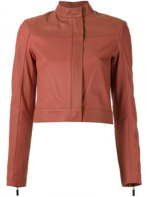 Leather jacket Giuliana Romanno. Цвет: none