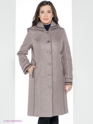 Пальто Brillare. Цвет: серо-коричневый