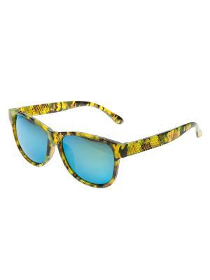 Очки солнцезащитные Pretty Mania. Цвет: зеленый,хаки,коричневый