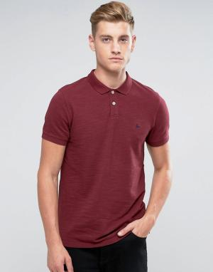Jack Wills Сливовая футболка-поло из пике Aldgrove. Цвет: красный