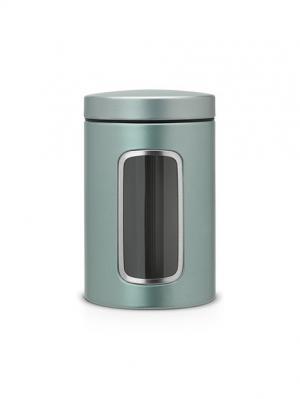 Контейнер для сыпучих продуктов с окном 1,4л. Brabantia. Цвет: морская волна