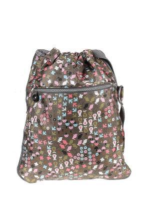 Рюкзак Happy Charms Family. Цвет: зеленый, голубой, розовый, белый