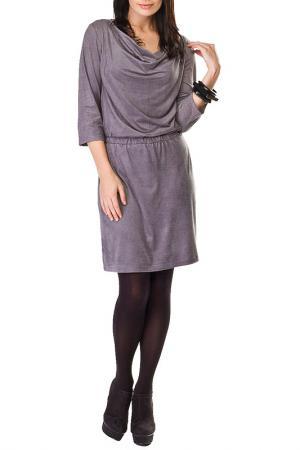 Платье на резинке с хомутом Sarafan. Цвет: серый