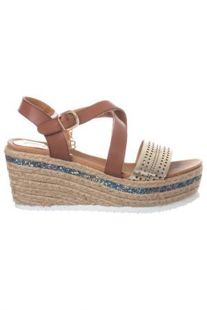 Platform sandals Laura Biagiotti. Цвет: brown