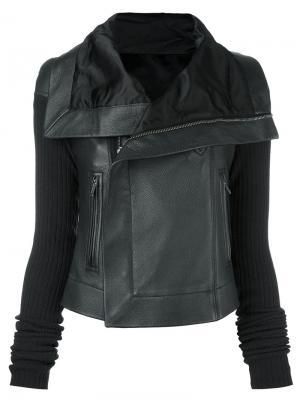 Классическая байкерская куртка Rick Owens. Цвет: чёрный