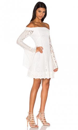 Приталенное и расклешенное платье cornelli NICHOLAS. Цвет: белый