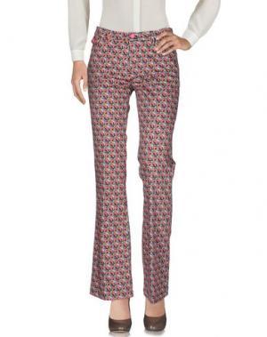 Повседневные брюки FEMME. Цвет: фуксия