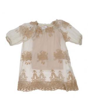 Блузка ILLUDIA. Цвет: бежевый