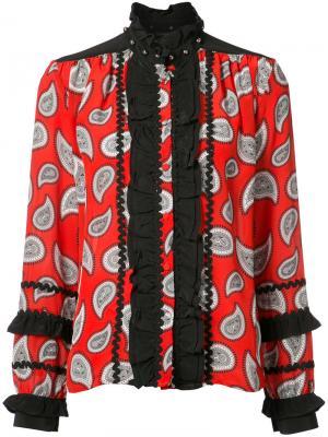 Блуза с узором пейсли и оборками Dodo Bar Or. Цвет: чёрный