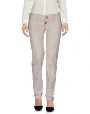Повседневные брюки DEKKER. Цвет: светло-серый