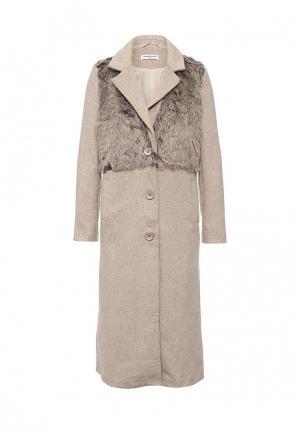 Пальто Glamorous. Цвет: бежевый