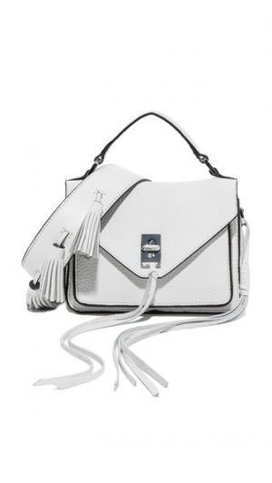 Маленькая сумка-портфель Darren Messenger с полностью белым ремнем для гитары Sofia Rebecca Minkoff
