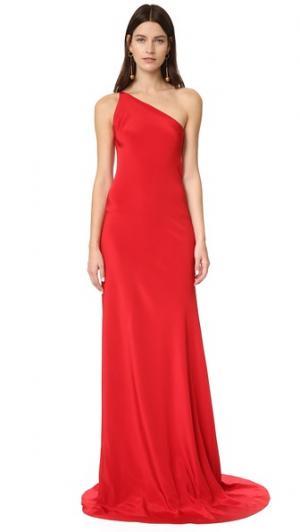 Вечернее платье Josefina Juan Carlos Obando. Цвет: красный