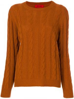 Джемпер с круглым вырезом The Gigi. Цвет: жёлтый и оранжевый