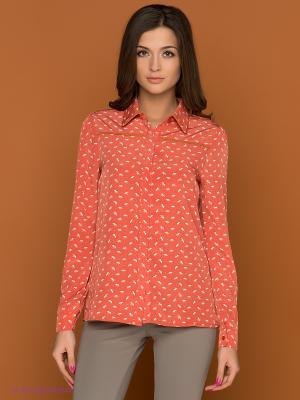 Рубашка Bonsui. Цвет: рыжий
