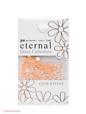 Стразы-камушки для ногтевого дизайна Cветлый сапфир жемчуг 3мм ETERNAL Dress Collection Gem Stone PA presents since 2004. Цвет: золотистый