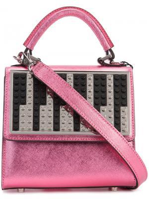 Сумка с клапаном в виде пианино Les Petits Joueurs. Цвет: розовый и фиолетовый