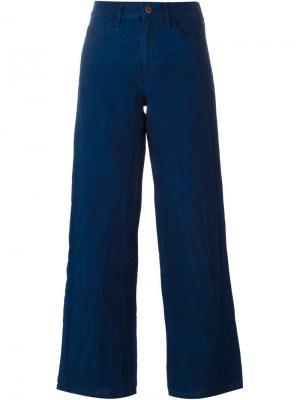 Широкие брюки Simon Miller. Цвет: синий